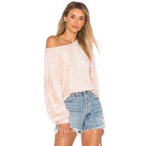 Free people pink velvet Milan sweater